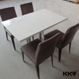 現代ホテルの家具の大理石のダイニングテーブルおよび椅子