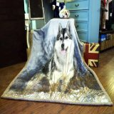 Berber печатание 2 Ply животные и одеяло фланели (волк)
