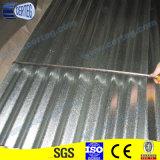 0.25mm гальванизировали Corrugated лист толя сделанный для конструкции