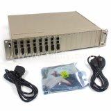 Montagem em rack de 16 Gigabit 10/100/1000m Conversor de mídia centralizado