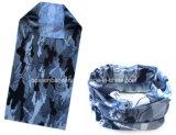 Fabrik-Erzeugnis kundenspezifischer Druck-blauer Tarnung-Polyester-Stutzen-Wärmer Tubana
