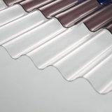 Lucarne ondulée de toit de feuille de polycarbonate de feuille ignifuge de polycarbonate