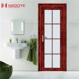 Porte traditionnelle de toilette en verre givré de modèle avec la configuration colorée