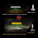 12000R/Min Dual LED de temperatura de cor das lâmpadas do farol H4