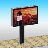 Tabellone per le affissioni di pubblicità esterna della struttura d'acciaio con indicatore luminoso illuminato