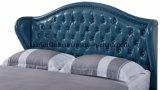 단추를 가진 호화스러운 침실 가구 현대 가죽 연약한 침대