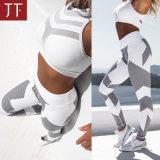 I vestiti attivi di forma fisica del commercio all'ingrosso di usura mettono in mostra i pantaloni di yoga