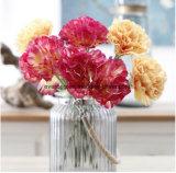 母の日の販売の人工的なカーネーションの花のための人工的なカーネーションの球の花の茎