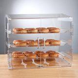 Cas d'exposition acrylique de boulangerie de partie supérieure du comptoir