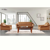 Sofa en bois d'hôtel de tissu bleu moderne de restaurant