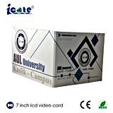 Fabrik-Preis 7 Zoll LCD-Bildschirm-videobroschüre, Papierkarte