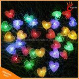 Indicatore luminoso alimentato solare a forma di della stringa 50LED del cuore per la cerimonia nuziale di natale