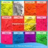 Revestimento Fluorescente pigmentos orgânicos, Luz do pigmento fluorescente em pó
