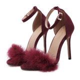 Sapatas do partido das senhoras cor-de-rosa da cinta do tornozelo das sandálias do salto elevado das mulheres