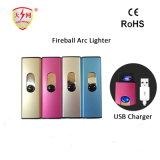 Isqueiro eléctrico acessórios para fumadores Echargeable USB Acendedor Arco duplo