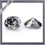 새로운 상표 회색 색깔 타원형에 의하여 잘리는 합성 Moissanite 다이아몬드