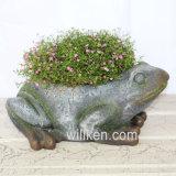 2017 гранитной отделкой лягушка форма декор Flowerpot животных