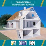 Camera prefabbricata della villa del tetto piano della struttura d'acciaio