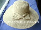 Chapeau souple de tresse d'été de mode avec la grande proue pour Madame