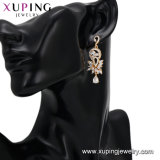 94698 роскошь золотого украшения горячая продажа специальной конструкции в раскрывающемся списке Multi-Stone серьги серьги для женщин