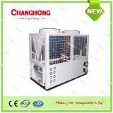 공기에 의하여 냉각되는 물 냉각장치 및 열 펌프 모듈 단위