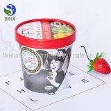 Recipientes/copos impressos papel personalizados do gelado da pinta