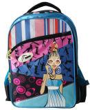 Sac d'élève de sac à dos de compartiment de l'école 2 de mode de filles