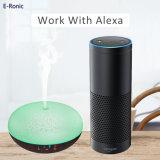아마존 Alexa 지능적인 Wi Fi 목제 곡물 7 색깔을%s 가진 차가운 안개 방향 가습기
