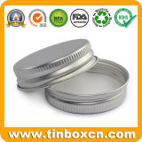 коробка косметического Cream опарника алюминиевых чонсервных банк 200ml алюминиевая с верхней частью винта