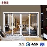 Porte en aluminium en verre givré de porte en verre de Frameless d'hôtel pour la salle de bains