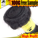 波状人間の毛髪のブラジルのバルク毛