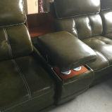 黒いカラーオフィス用家具L形の革ソファー(A848-2)