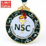Promoción de la venta al por mayor baratos de metal personalizados innovador Deporte Medalla de Oro