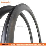 Tigre 7 carreras de bicicleta de carretera de alta calidad de la llanta de carbono de 50mm 700c remachador llantas de la forma de U