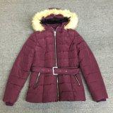 新しい方法Waistcordのフードの毛皮Sy-1804が付いている長い女性のジャケット