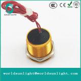 Ws165f1nom IP68 16mm Gold anodisierter flacher Bediener Flyingleads 200mA 24VAC/DC normalerweise geöffneter momentaner piezo Schalter