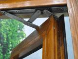 Tissu pour rideaux en aluminium des graines en bois plus le guichet de difficulté du constructeur de la Chine