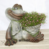 Decorazione animale 2017 del Flowerpot di figura della rana del granito