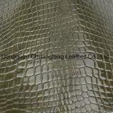 Mais recente couro de PVC de crocodilo para bolsas sapatos