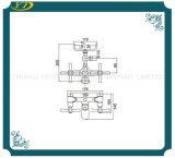 Torneira de bronze terminada cromo do núcleo cerâmico termostático para o banheiro