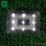 Luces de cristal del ladrillo del hielo del pavimento solar IP68