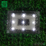 IP68 Pavimento Solar de hielo de las luces de ladrillo de vidrio