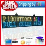 P10 RGB屋外のフルカラーのLED表示Programmablefor LEDはサイズ14X65のインチLEDのスクローリング印の伝言板に署名する