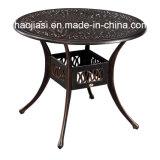 Patio extérieur / jardin /// Table en aluminium moulé en rotin HS6105dt