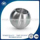 Bola del sólido de Inox 25m m con el orificio directo para los pasamanos