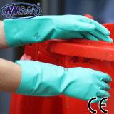 Nmsafety 18mil 화학 저항하는 녹색 니트릴 장갑