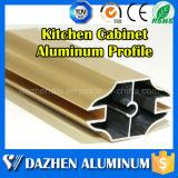 Perfil de alumínio da venda quente para o armário do gabinete de cozinha com cor personalizada
