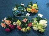 Fiore artificiale/di plastica/di seta Rosa Bush (XF-FD11)