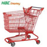 180L Carrinho de Compras Carrinho de plástico para grande supermercado