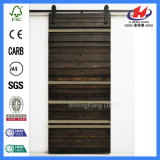 Puerta de granero de desplazamiento doble modificada para requisitos particulares del tapón modelo de interior